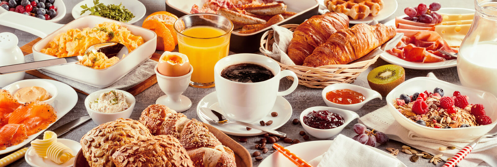 Snídaně v Cafe Monet